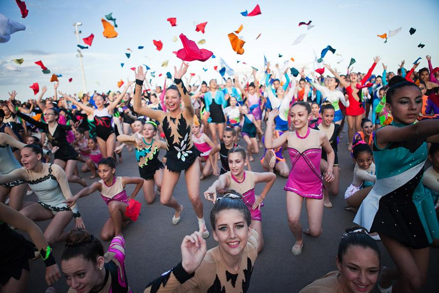 Fiesta de cierre de los Juegos Evita 2014.