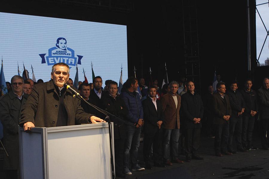 La ceremonia de apertura contó con la presencia de Carlos Castagneto y Carlos Espínola.