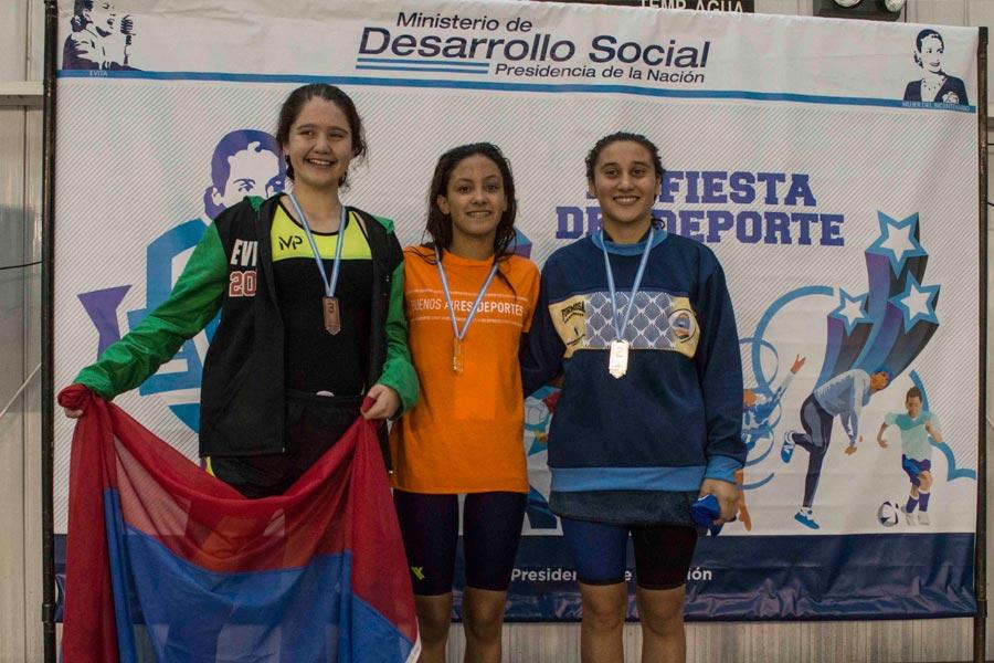 En la segunda prueba de la jornada ganó la nadadora bonaerense Florencia D'onofrio.