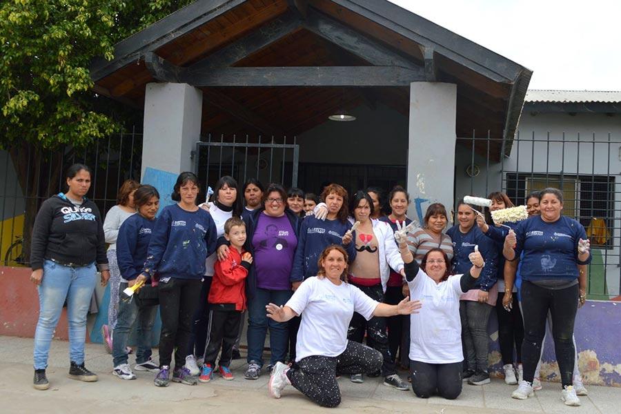 A través el programa Ellas Hacen, se remodeló el jardín n° 930 de Don Torcuato.