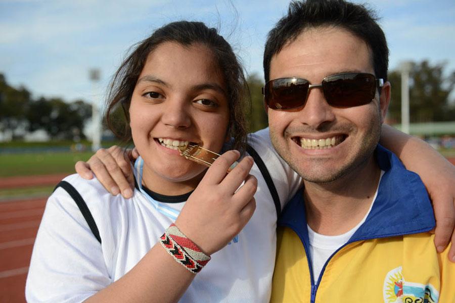 Micaela se llevó la medalla de oro en su disciplina.