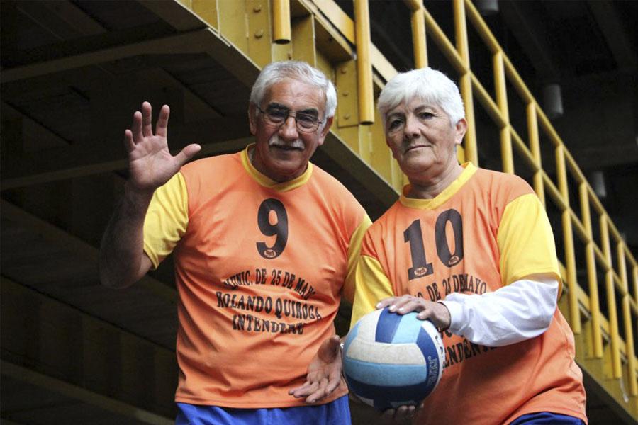 Ángel y Gladys vienen por primera vez a Mar del Plata.