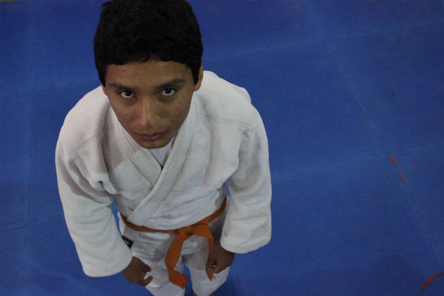 Matías Torres tiene 14 años y compite en judo en los Juegos Evita.