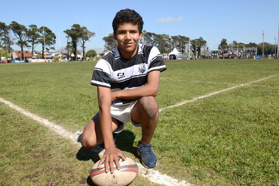 Franco Moya tiene 14 años y representa a Catamarca en Rugby.