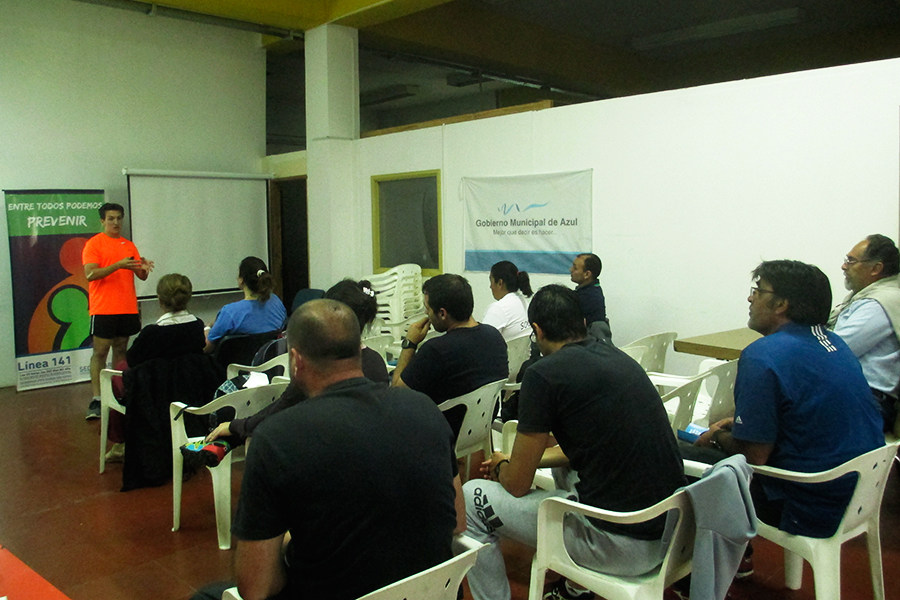 Participaron 20 agentes deportivos pertenecientes a diferentes clubes sociales.