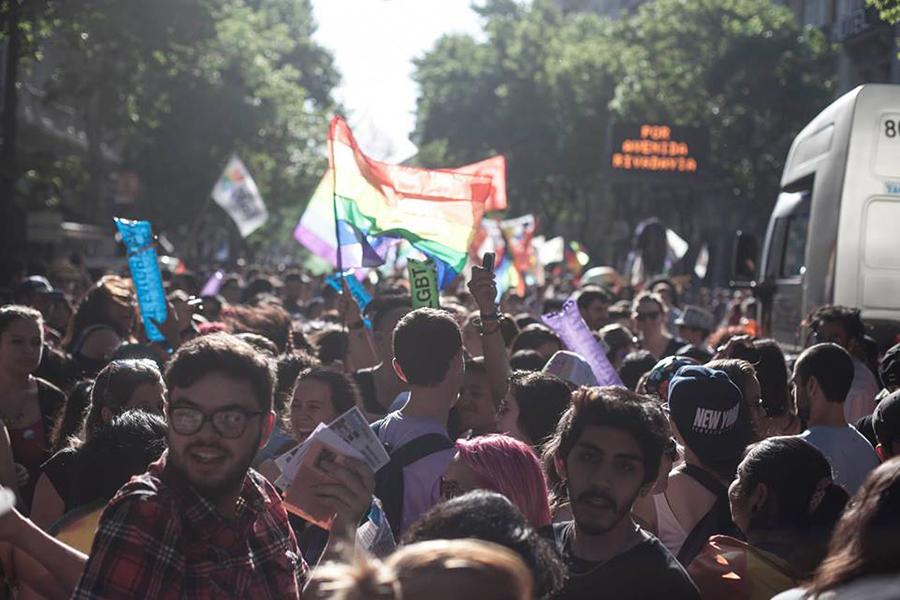 """Lo hicieron bajo la consigna """"¡Ley Antidiscriminatoria ya! Sigamos conquistando derechos""""."""