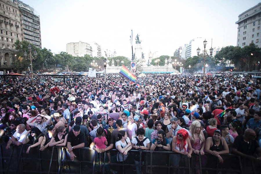 La recorrida se realizó desde Plaza de Mayo hasta el Congreso de la Nación.
