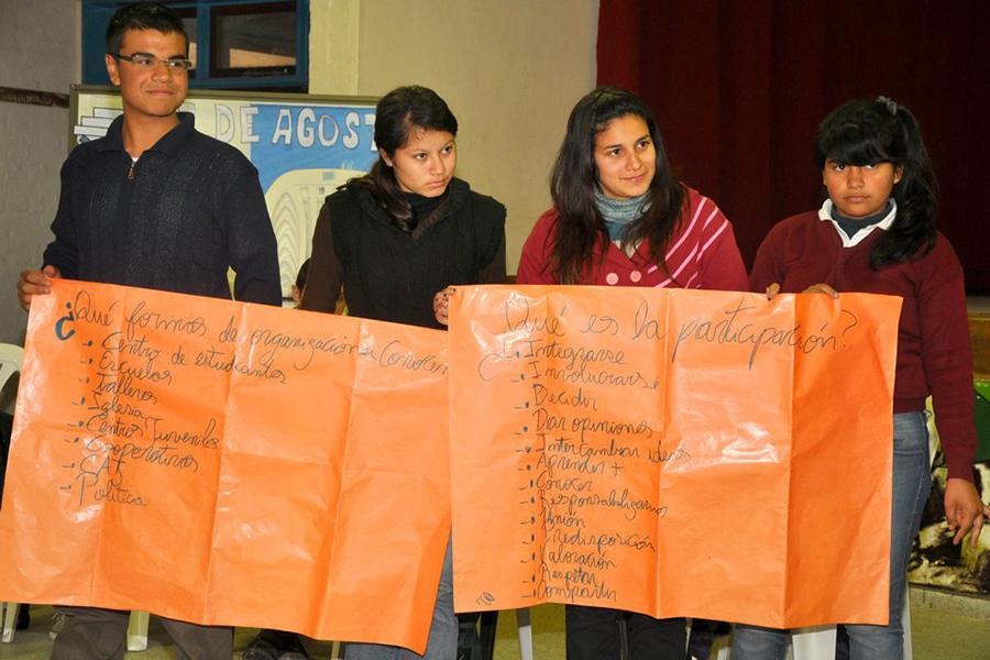 También participaron de talleres sobre Derechos Humanos y responsabilidad ciudadana.