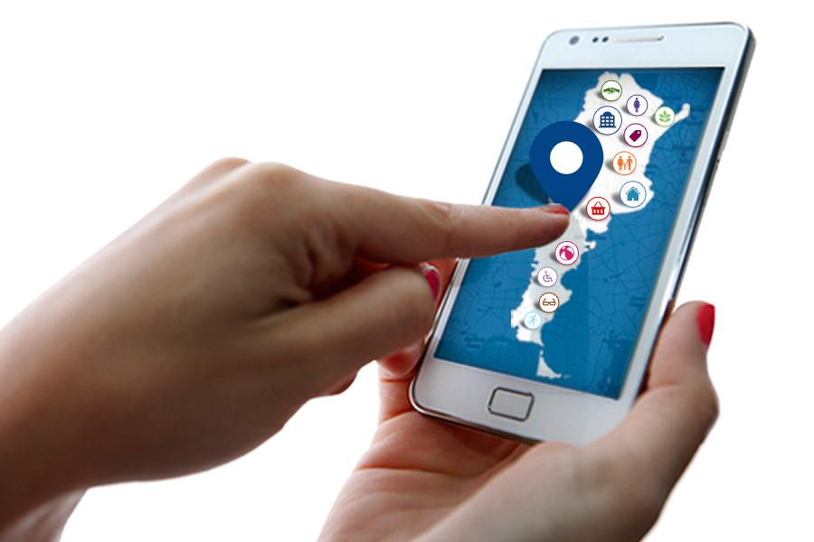 imagen del mapa interactivo desde un celular