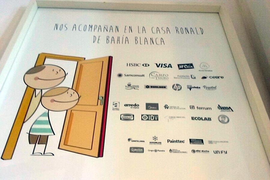 Se entregaron 350 juegos de sábanas para los distintos espacios con los que cuenta la Casa Ronald Mc Donald Argentina.