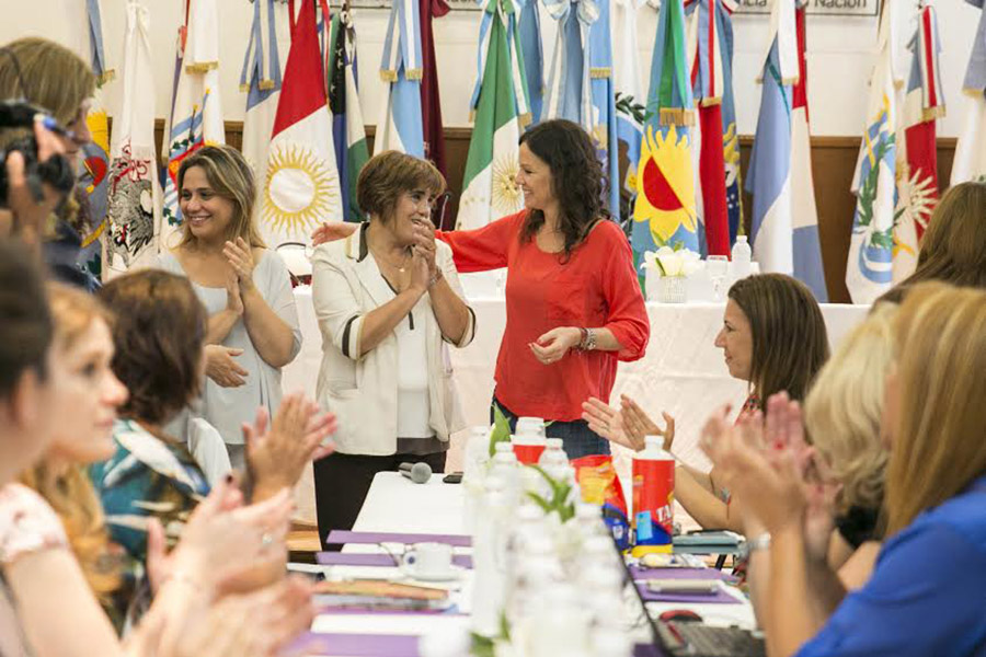 En la reunión la ministra y las consejeras intercambiaron información sobre las diversas realidades provinciales y generaron propuestas de acción para erradicar la violencia de género.