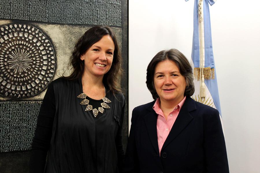Carolina Stanley junto a Jessica Faieta durante su encuentro en la ONU.
