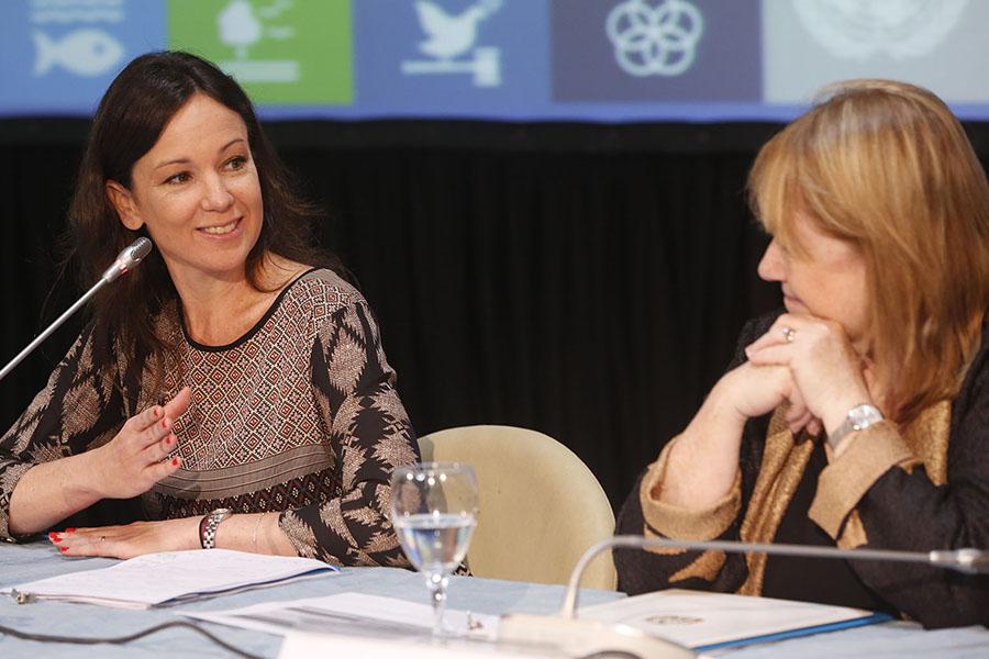 La ministra Carolina Stanley participó de la presentación de los objetivos de la Agenda 2030.