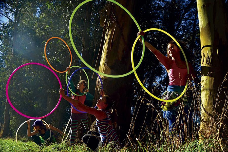 Las actividades de circo son parte de la agenda cultural del Unzué.