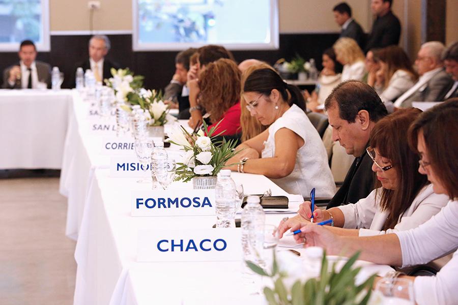 Representantes provinciales durante la reunión del Consejo Federal para la Prevención y Asistencia de las Adicciones y Control del Narcotráfico.