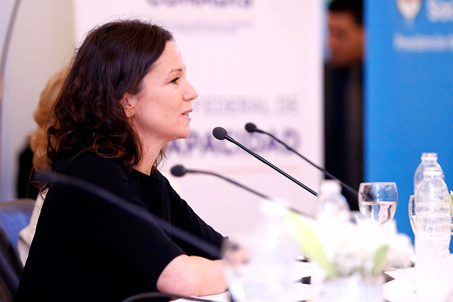La ministra Carolina Stanley participó de la apertura del Consejo de Discapacidad.