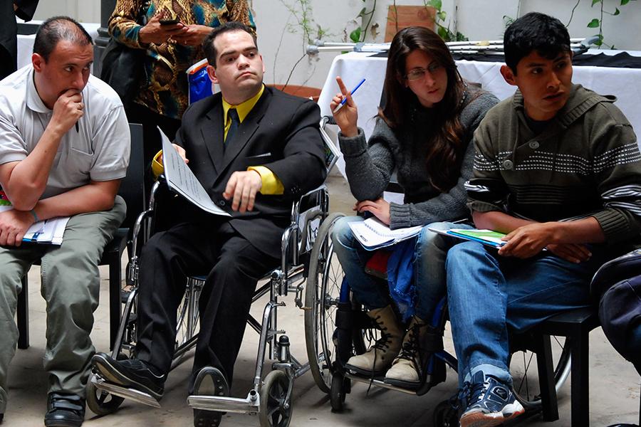 Personas con discapacidad y representantes de todas las provincias participaron del encuentro.