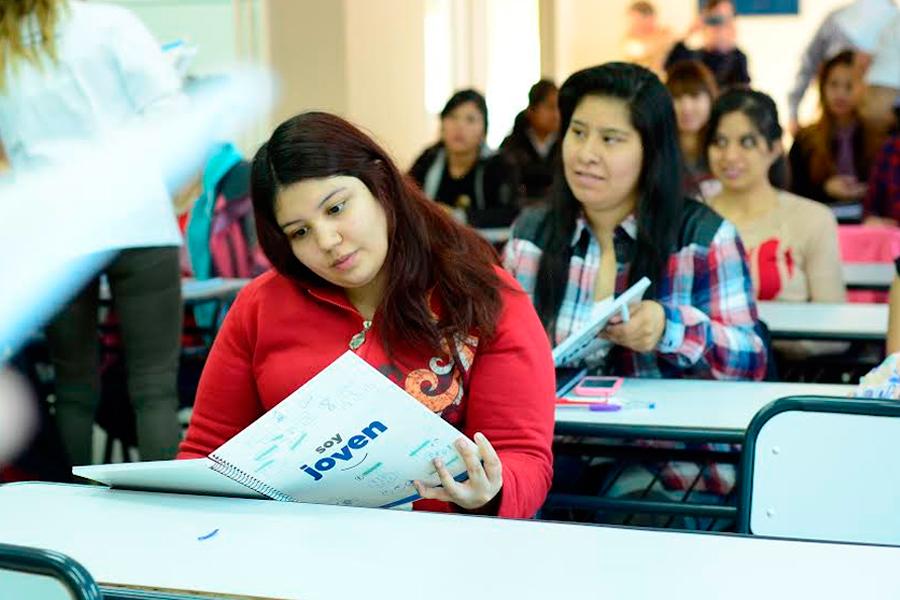 Jóvenes participantes de las actividades de concientización.