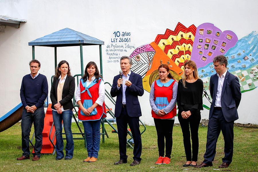Imágenes de Mauricio Macri y Carolina Stanley