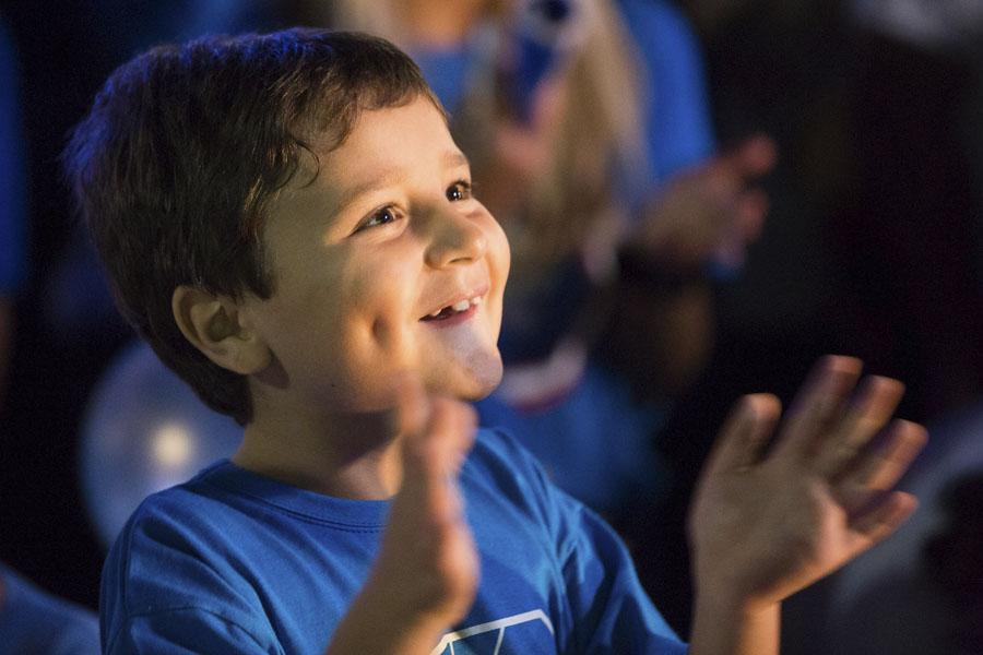 El sábado pasado, niños con autismo y sus familias participaron del acto central.