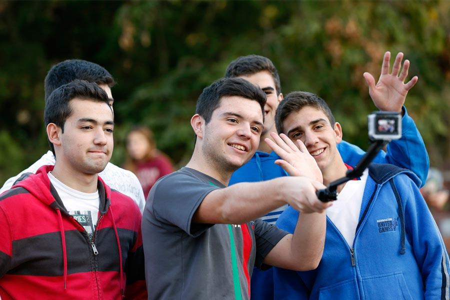 Todos aprovecharon el viaje para registrar en sus cámaras los momentos más divertidos.