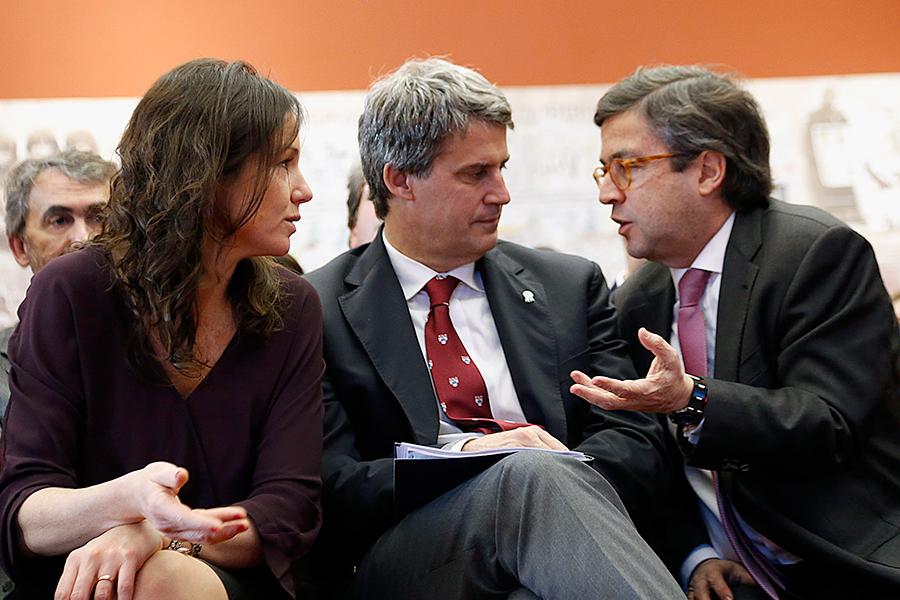 En el encuentro, los ministros Stanley y Prat Gay intercambiaron experiencias con Moreno, titular del BID.