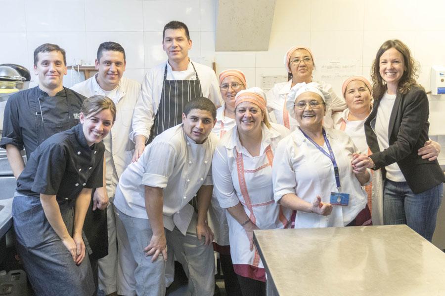 Las emprendedoras compartieron una jornada de trabajo junto al chef Dante Liporace.