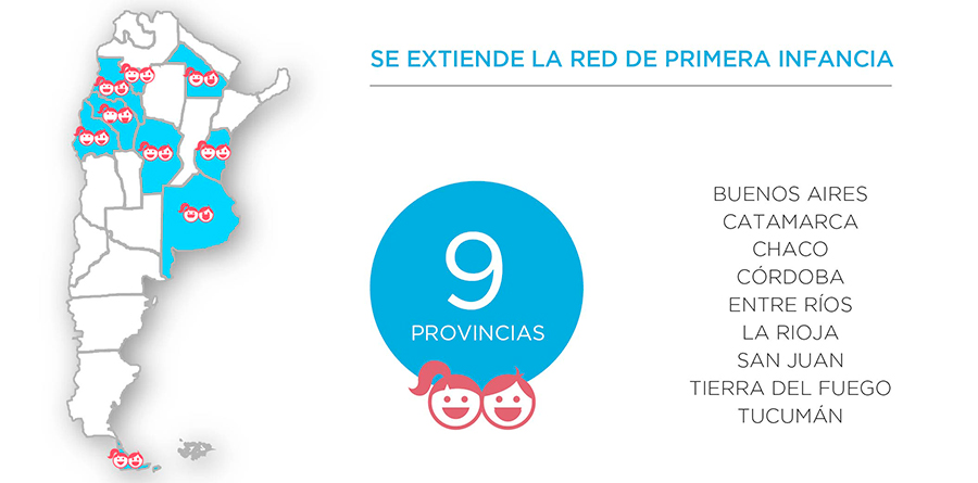 Infografía sobre la extensión del Programa Nacional de Primera Infancia