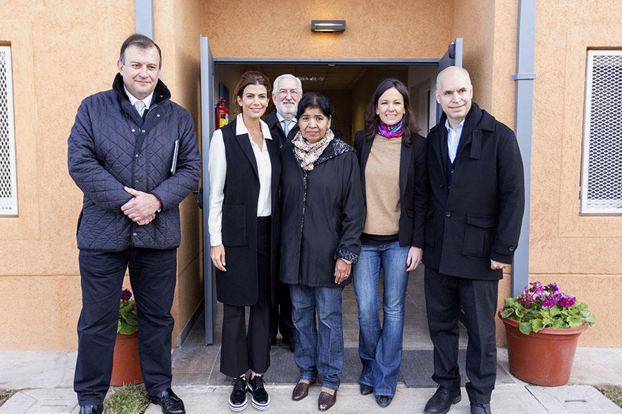 Imágenes de Carolina Stanley, Juliana Awada y Horacio Larreta durante la inauguración del centro Margarita Barrientos