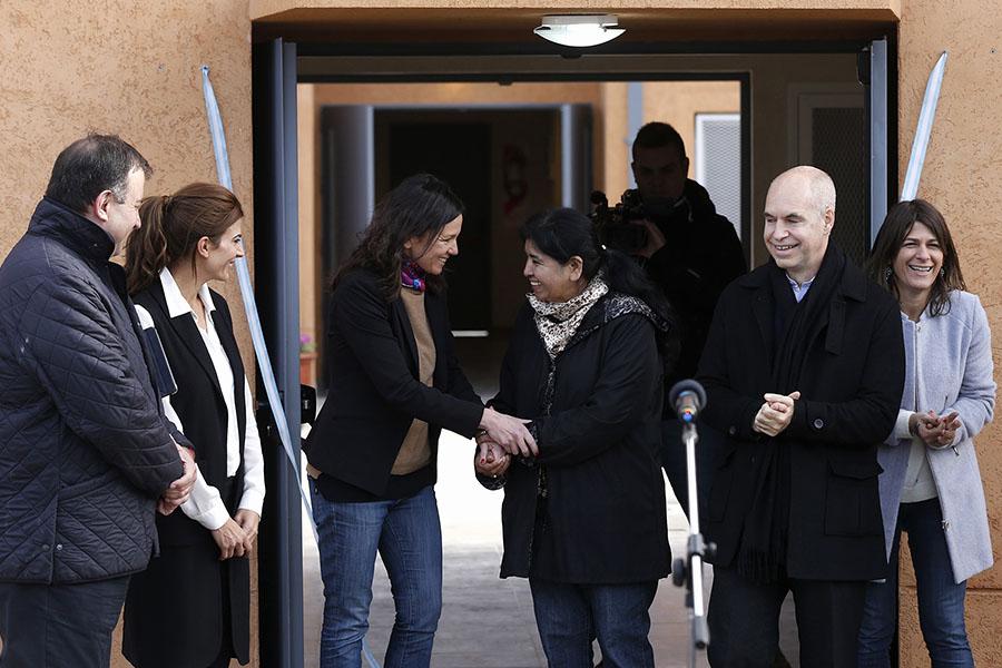Durante la actividad, la ministra remarcó la importancia de concientizar sobre la violencia de género.