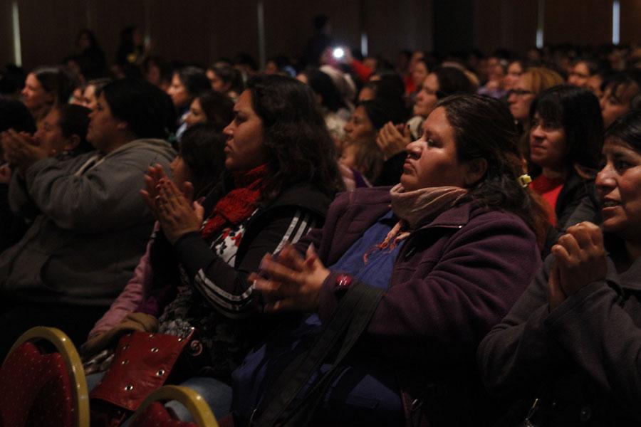 """Asistieron más de 700 personas, integrantes de los programas """"Ellas Hacen"""" y """"Argentina Trabaja"""", del ministerio."""
