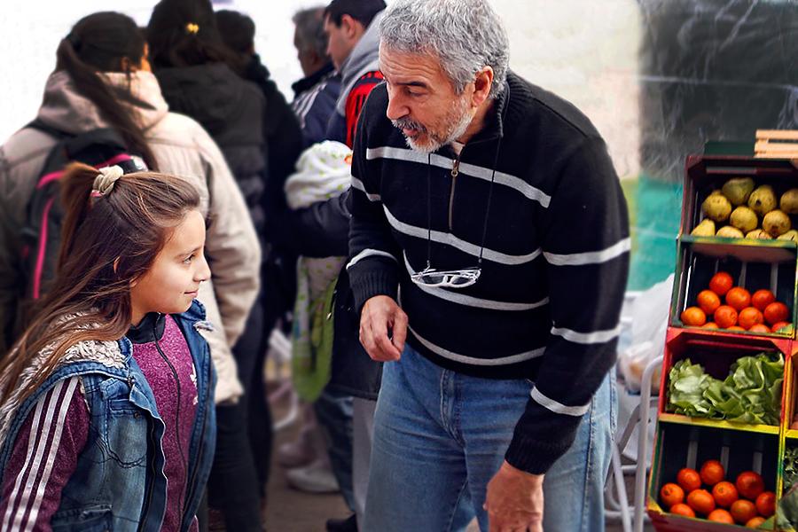 Los chicos formaron parte del Plan Nacional de Seguridad Alimentaria, en la localidad de Merlo.
