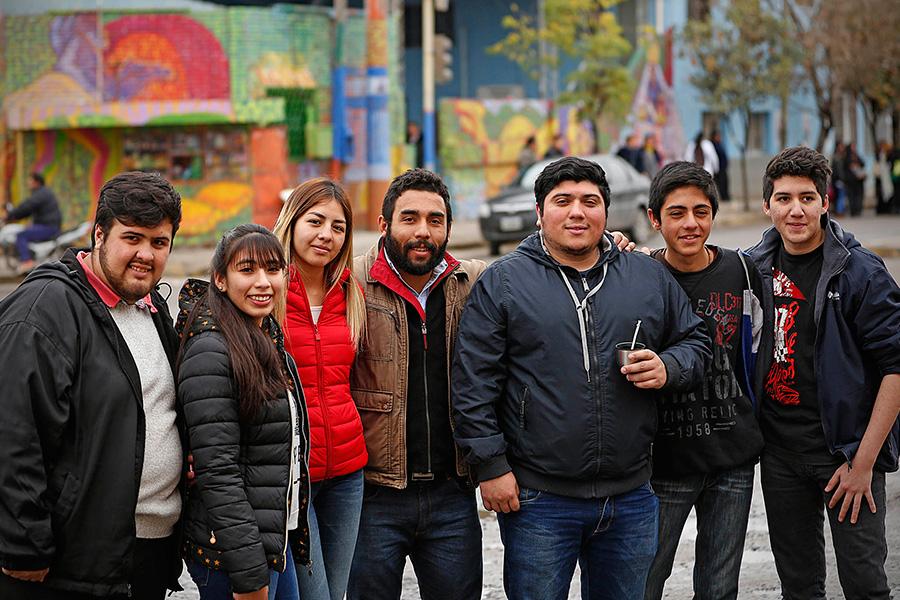 Imágenes de los participantes de murales colectivos