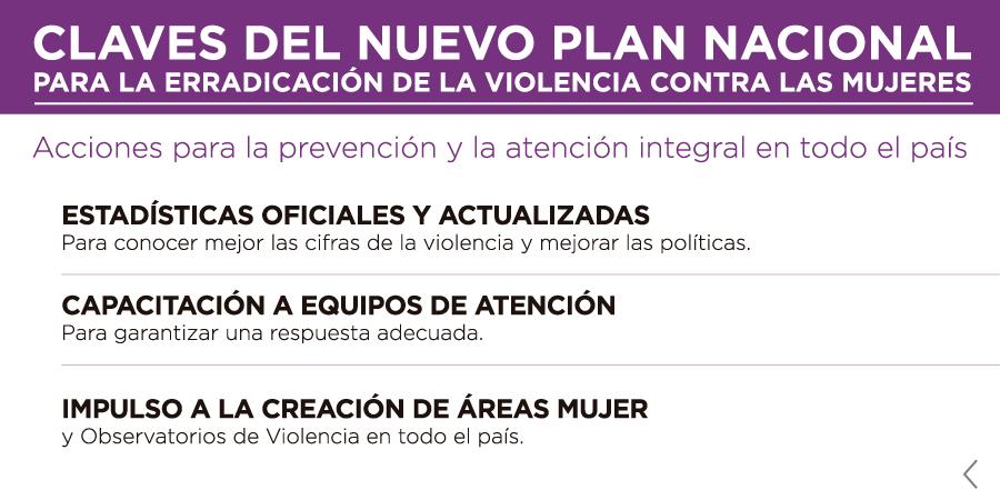 Infografía descriptiva del nuevo plan nacional