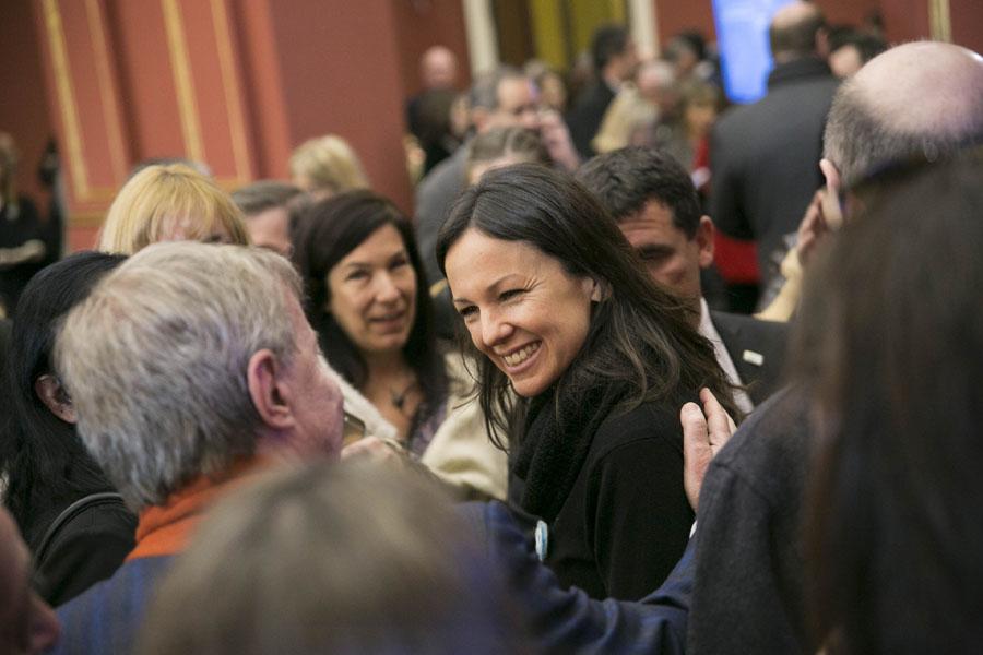 Imagen de Carolina Stanley en la apertura del foro