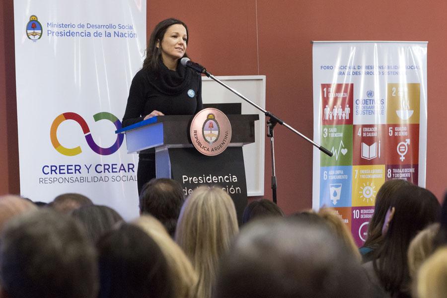 En su discurso la ministra afirmó que el desafío es lograr un mundo con igualdad de oportunidades.