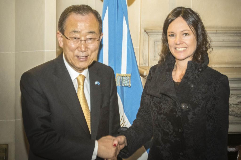 Imagen ilustrativa de la visita del titular de Naciones Unidas a la Argentina.