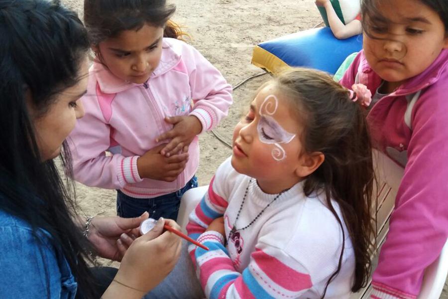 En Catamarca las aprendieron sobre maquillaje artístico.