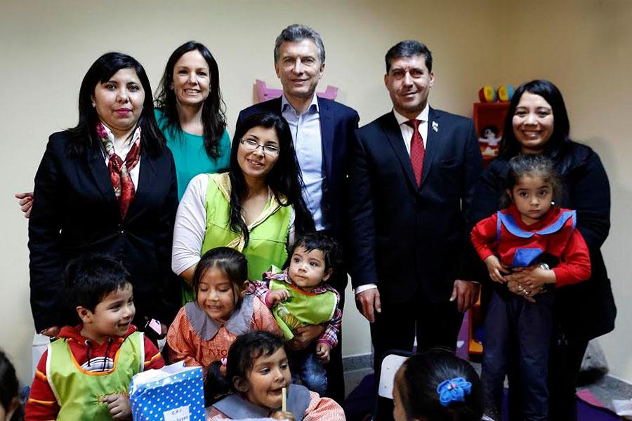 Imágenes de Carolina Stanley y Mauricio Macri