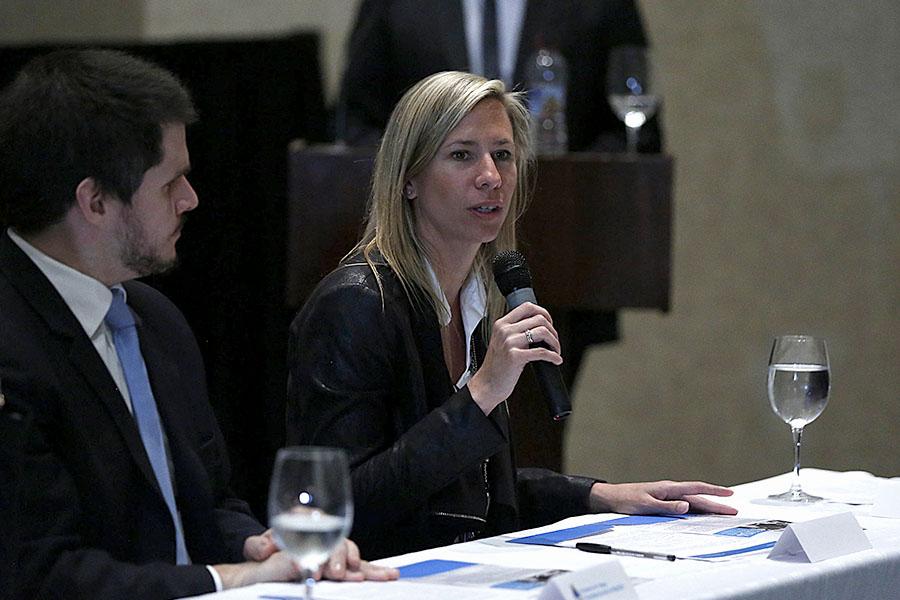Victoria Costoya, coordinadora de Relaciones Internacionales del Ministerio de Desarrollo Social, participó de la actividad.
