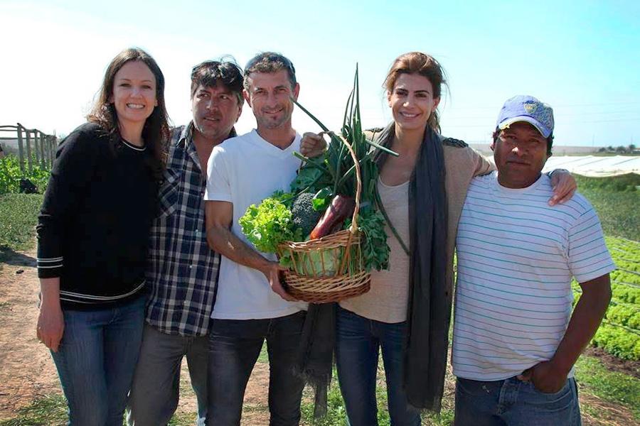 Carolina Stanley y Juliana Awada conocieron de cerca los proyectos de 60 productores hotícolas.