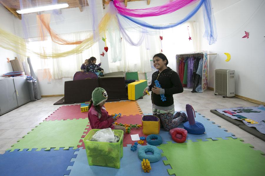 El proyecto Apapachos no sólo brinda un espacio de contención y cuidado sino que propone realizar actividades artísticas.