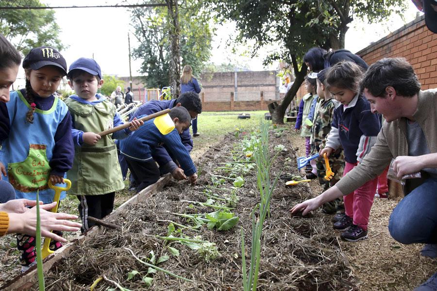 En el Centro de Actividades Infantiles funciona un proyecto comunitario del programa Pro Huerta.