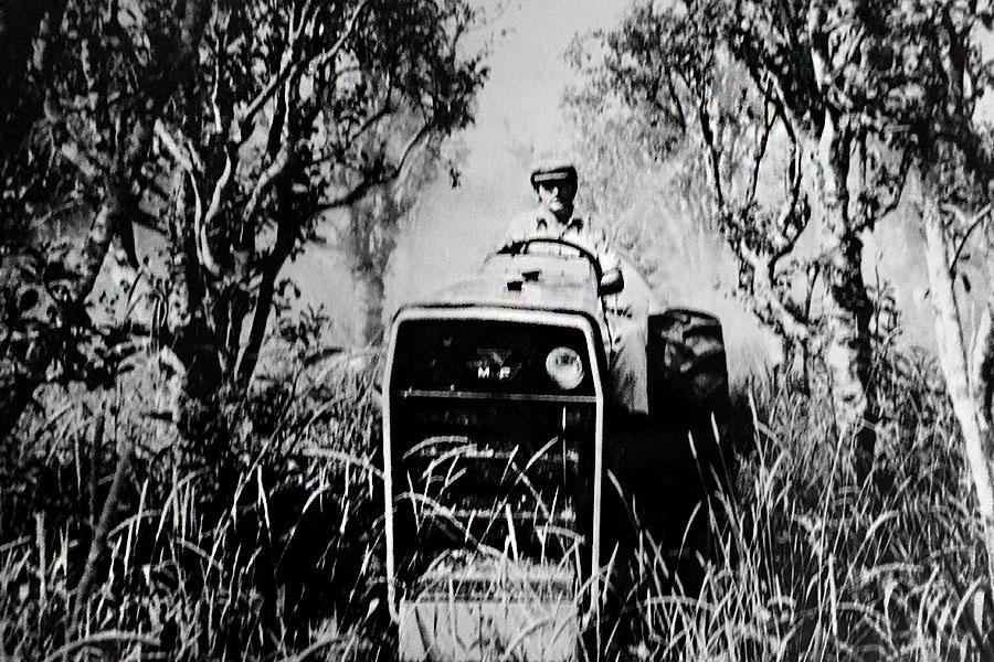 Fotografía ilustrativa de un integrante de Caficla en los años '70.