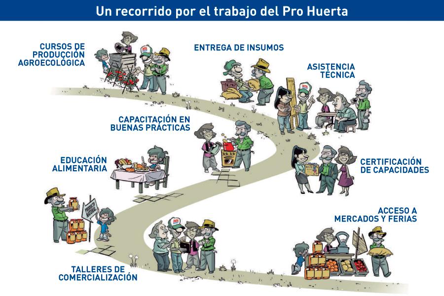 Infografía explicativa de INTA sobre Pro Huerta.