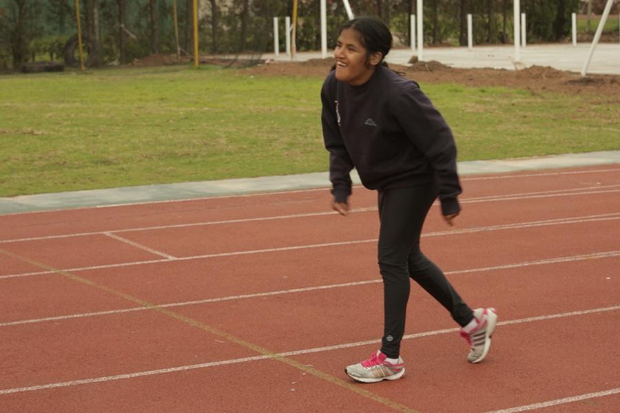 Yanina Martinez entrenando