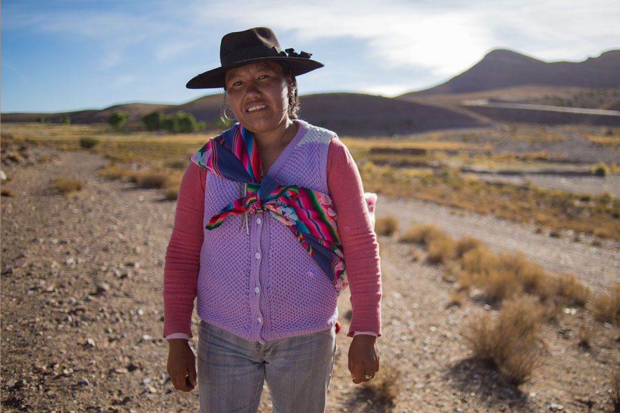 Imagen ilustrativa de Martina Abracaite que vive en la comunidad aborigen de Lecho, en La Quiaca, Jujuy.