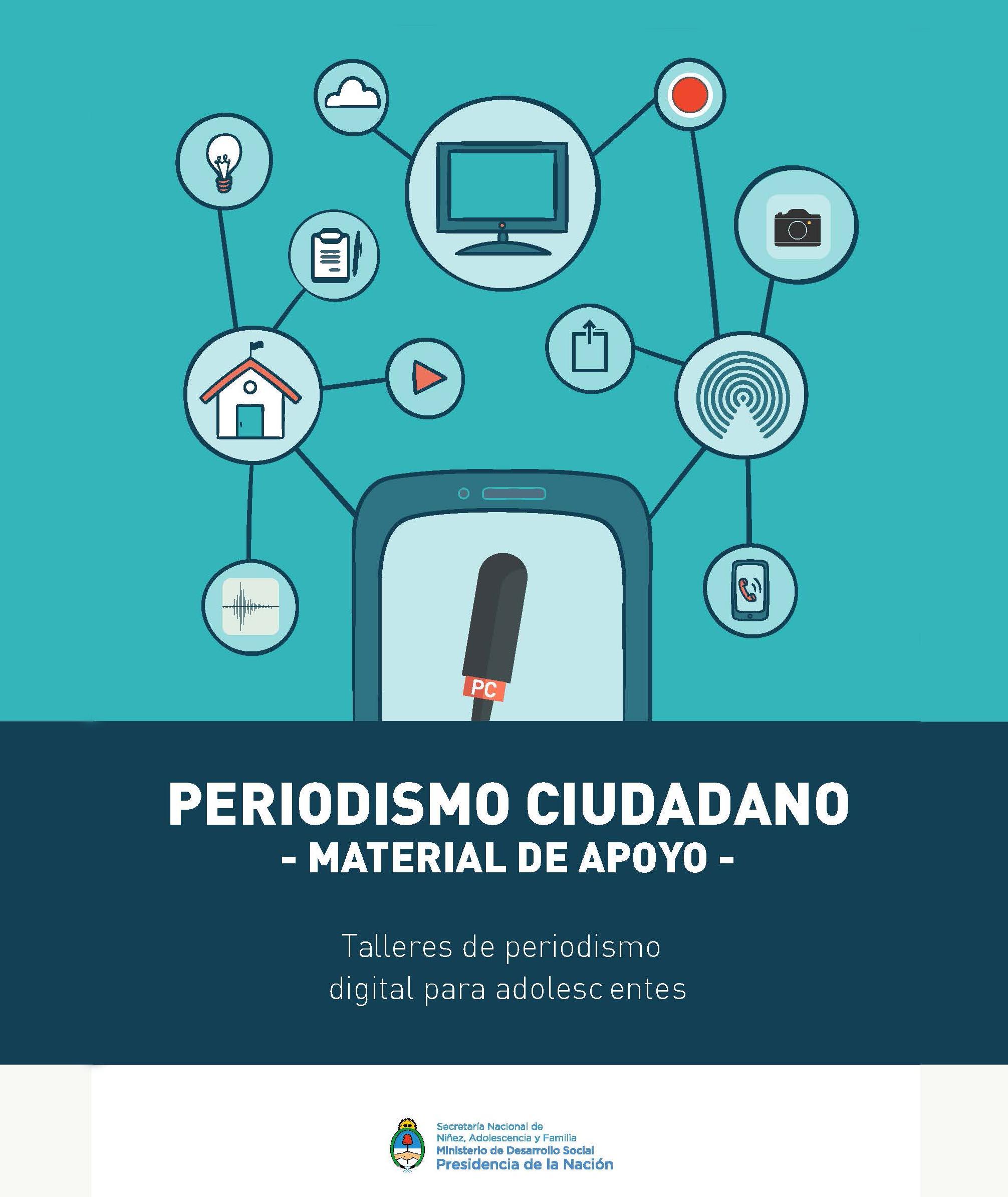 Imagen ilustrativa del cuadernillo de Periodismo Ciudadano