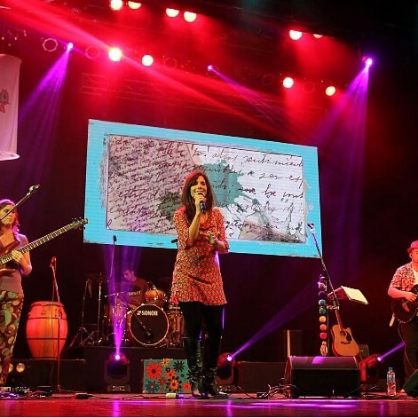Cantante de folclore en escenario