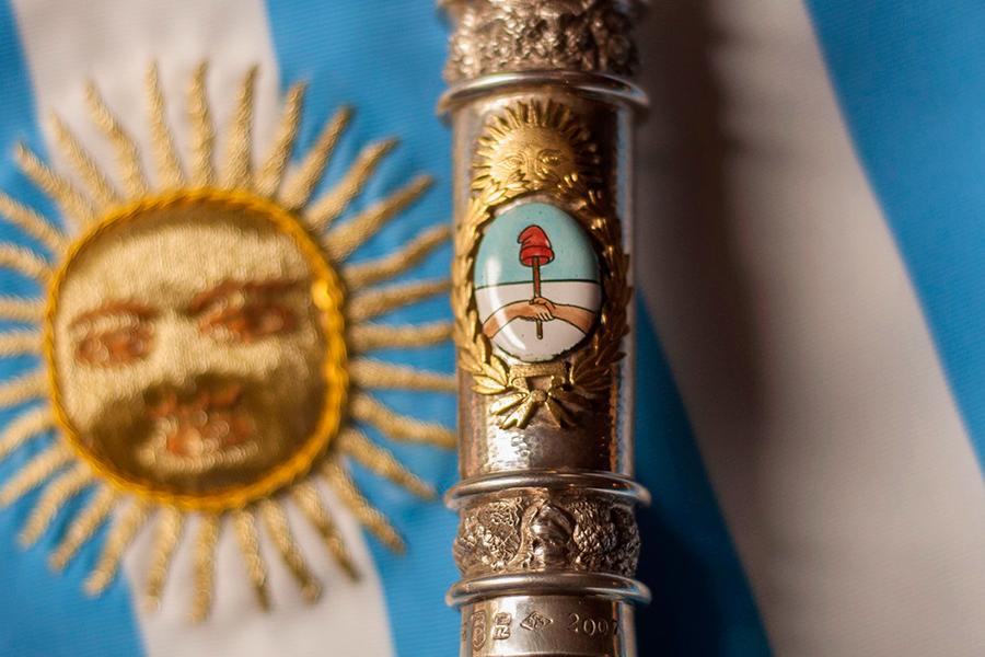Imagen ilustrativa del bastón presidencial con el escudo nacional